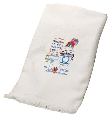 Dimensions Needlecrafts Embroidery, Reading Room Guest Towel