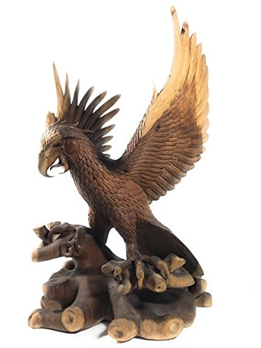 Exquisite Hand Carved Eagle 33'' X 20'' - Hand Carved | #rta04 by TikiMaster
