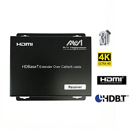 AVI HDBaseT HDMI 2.0 HDCP 2.2 4K 4X4 HDMI Matrix Extender Switcher With 4 POE Receivers Over Single Cat5e/6 Cable Supports Ultra HD 3D 60HZ @ 4Kx2K with Bi-directional IR (Matrix+4receivers) by AVI (Image #4)