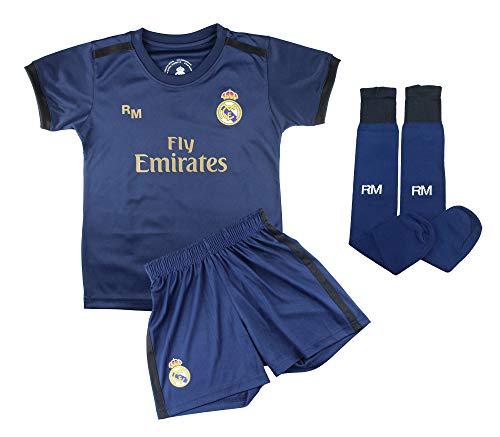 Champion's City Conjunto Complet Infantil Real Madrid Réplica Oficial Licenciado de la Primera Equipación Temporada 2019…