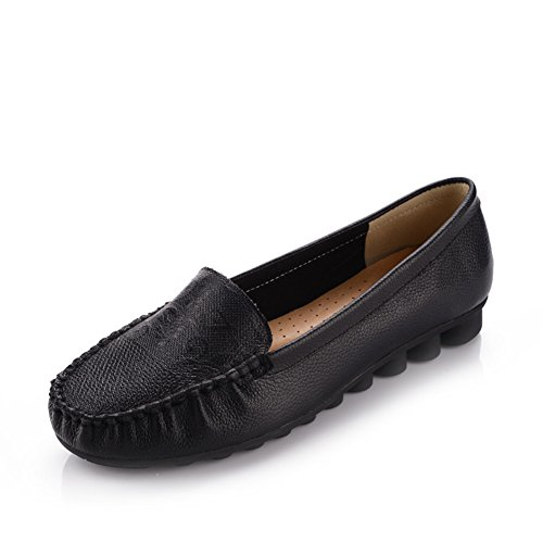 pale zapatos de las mujeres de mediana edad/ suave final de edad media y vieja/ flat-bottom zapatos/Zapatos de mujer D