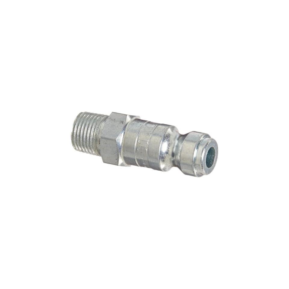 Dixon Valve DCP101 Steel Air Chief Automotive Interchange Air Fitting, Quick Connect Plug, 1/4 Coupler x 1/8 NPT Male Thread, 37 CFM Flow Rating