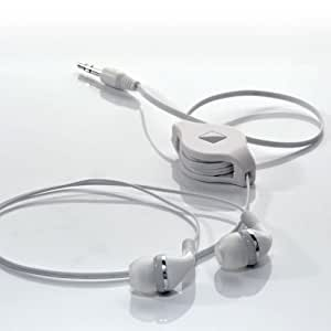 Travel Blue 552 - Auriculares intraurales con cable enrollable, color blanco