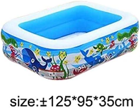 Plástico rectangular Fondo inflable piscina inflable para niños ...