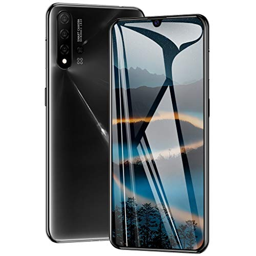 2019 Unlocked GSM Smartphone, Dual SIM, Quad Core, Four HD Camera, Android 6.1, Droplet Screen, Face Recognition, 1+16GB Cell Phones Unlocked (Black)