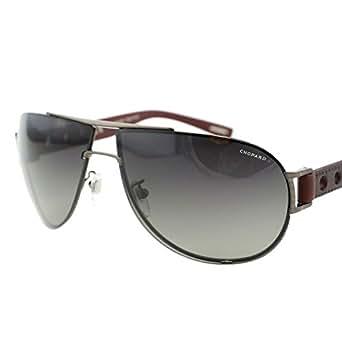 Chopard SCH B32 A21P Men Mille Miglia Dark Burgundy Polarized Aviator Sunglasses