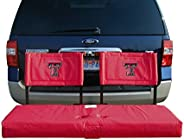 Rivalry Sports Team Logo Design Outdoor Travel Tailgating Texas Tech Tailgate Hitch Seat Cover