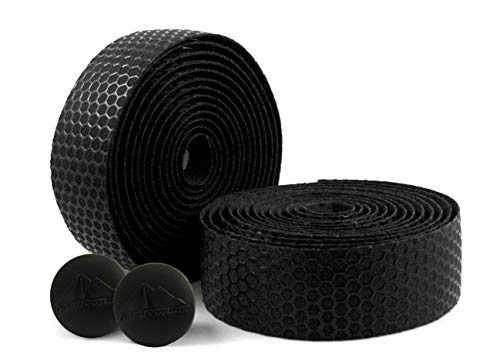 MARQUE Hex Grip Bar Tape - Road Bike Handlebar Tape 2PCS per Set (Black)