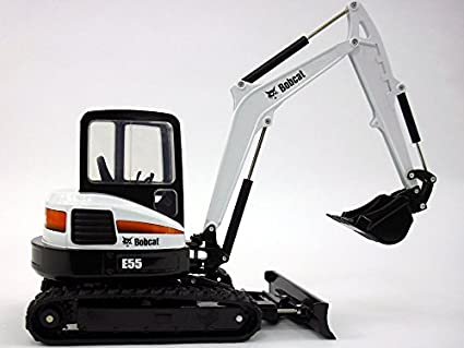Amazon com: Bobcat E55 Compact Excavator 1/25 Scale Die-cast