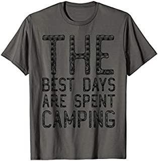 Cool gift The Best Days Are Spent Camping Camping  Women Long Sleeve Funny Shirt