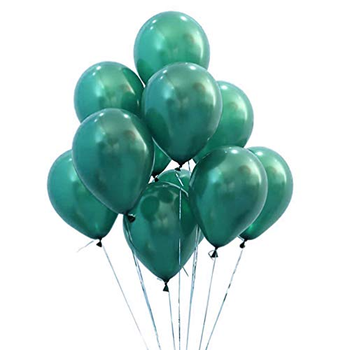 AZOWA Latex Party Balloons 12 inches Turquoise Balloon for Party Decorations (100 Pcs, Turquoise Color)