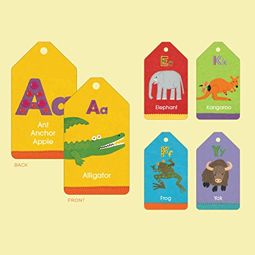 Mudpuppy Animal ABCs Flash Cards for Ages 3 to 7 - Fun Illustrations on Two-Sided Flash Cards Help Kids Learn Alphabet