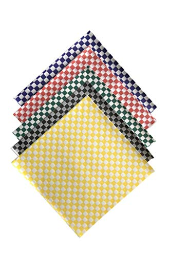 (Variety Pack Check Sandwich Paper Wrap - 12 x 12 inch Deli Waxed Papers Food Basket Liners Wrapping Checkered Sheets; Made in USA (Pack of 100))