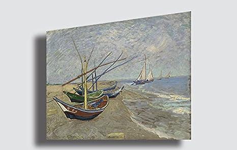 Quadri Moderni Per Ufficio : Quadro van gogh navi da pesca riproduzione stampa su tela quadri