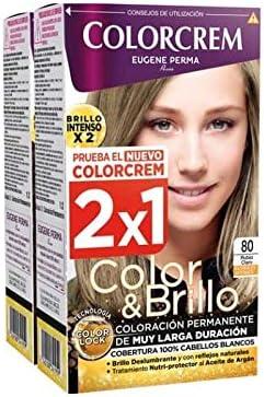 COLORCREM COLOR & BRILLO TINTE CAPILAR 80 RUBIO CLARO x 2 UDS ...