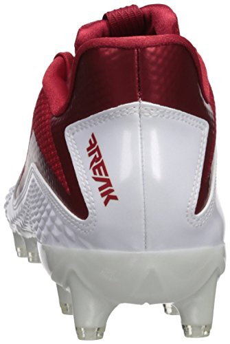 super popular 5be51 d2e1e ... Adidas Heren Freak X Carbon Mid Voetbalschoen Wit  Power Rood  Wit ...