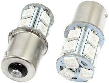 2 PC 1156 5050 SMD 13 LED Rojo trasero Bombilla de luz de señal Para el coche auto