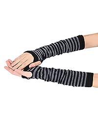 Tenworld Winter Wrist Arm Hand Warmer Knitted Long Fingerless Gloves Mittens Hot