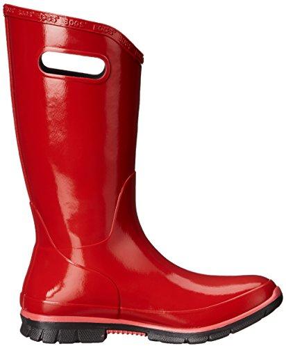 Damen Ultra Weich Flexible Gummi Oben Gummistiefel Ausgekleidet Mit Bogs Max-Docht Zu Halten Fuß Trocken Und Einen - Damen, Rot, 37