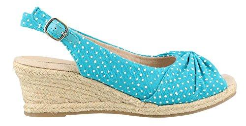 Easy Street Mid Heel Sandals - Easy Street Women's, Monica Mid Heel Sandals Turquoise 10 M