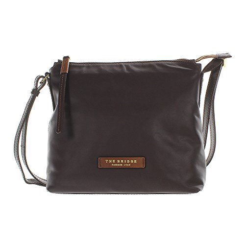 The Bridge Calypso Leather Shoulder Bag 29 Cm Marrone