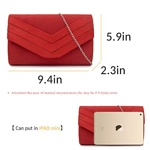 Bag Red Evening Envelope Purse Clutch Clutches Women Velvet Classic Milisente XZPwqBx