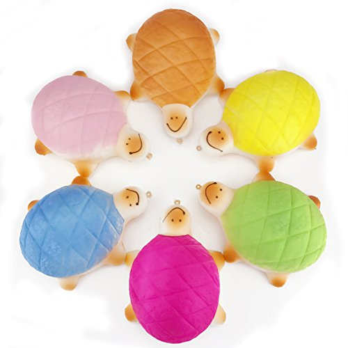 [BIG SIZE] Fireboomoon 5.5'' Jumbo Soft Cute Turtle Melon Pan Bun Squishy, Random color - Cute Turtle