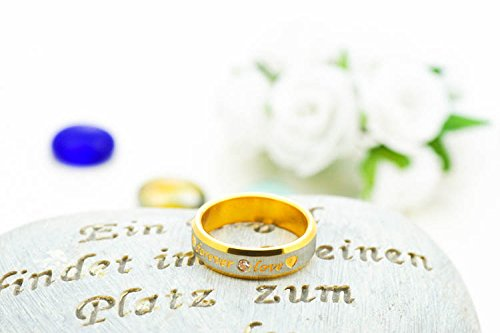 Yellow Chimes Love Forever 18K Gold Plated Proposal Couple Rings