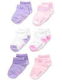 Hanes girls Toddler Girls Toddler 6-pack Ankle Socks