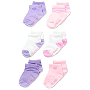 Hanes Girls' Toddler Ankle Socks (Pack of 6)
