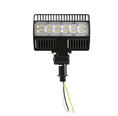 ELECALL LED Flood Light, 20W/2200Lumen, 5000K, Waterproof, IP65, 120-277V, ETL-Listed
