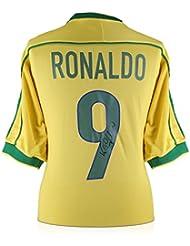 Ronaldo de Lima Signed 1998-00 Brazil Home Soccer Jersey