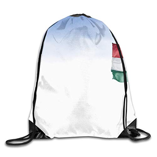 (PengMin Hungarian Flagdom Drawstring Bag for Traveling Or Shopping Casual Daypacks School Bags )