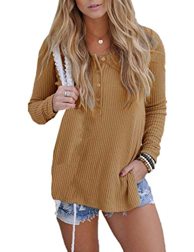 Gingembre ulein Manches Hiver Hauts Blouse Chandail Jumper Tops Femmes Fr Pulls Automne Fashion Longues Casual Sweater Fox Jaune xanwqdAp