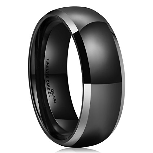 King Will Tungsten Polished Engagement