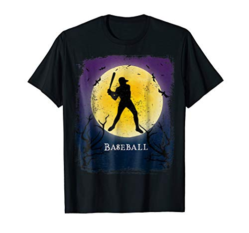 Baseball Player Halloween Shirt Vintage Art Batter Tee for $<!--$16.99-->