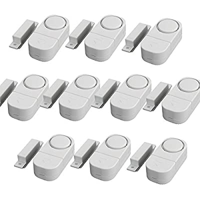 GetTen 10Pcs Wireless Home Door Window Burglar DIY Safety Security ALARM System Magnetic Sensor