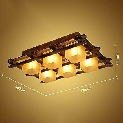 Lámpara de bambú retro masiva del restaurante del techo del ...