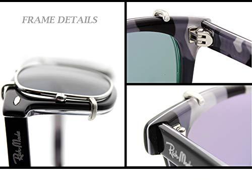 Cadre classic eyewear Non Gris Clip RICH on Acetate sunglasses MODE Argent Prescription shape Clip nvFXBx4A