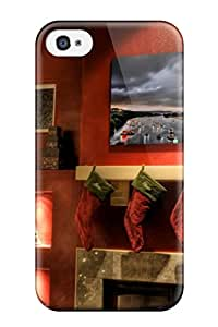 New Diy Design Christmas 5 For Iphone 4/4s Cases Comfortable For Lovers And Friends For Christmas Gifts