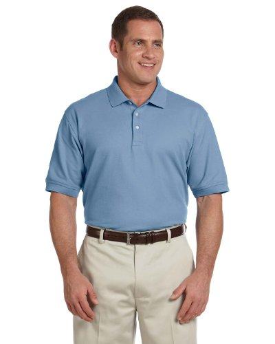 Devon & Jones Men's Pima Pique Polo Shirt, Slate Blue, X-Large Devon And Jones Cotton Shirt