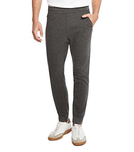(9 Crowns Essentials Mens IP Premium Quality Fleece Jogger Pants-Charcoal-Medium)