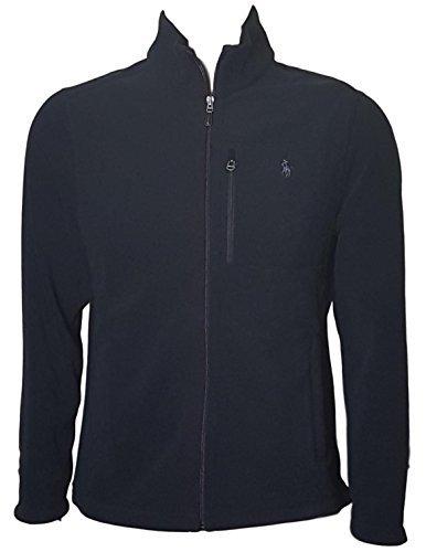 Polo Ralph Lauren Men's Performance Full Zip Fleece Jacket (XXL, Black)
