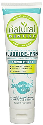 The Natural Dentist Healthy Teeth & Gums Fluoride-Free Toothpaste, Peppermint Sage - 5 oz