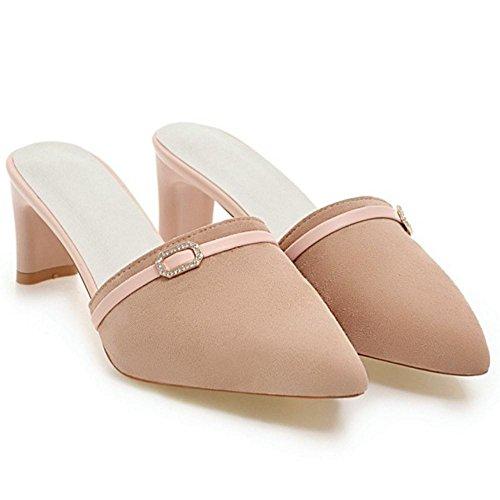 Ferme Pink Sandales Femmes Mules RAZAMAZA Bout w47Hqq