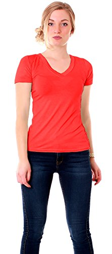 Easy Young Fashion - Camiseta - para mujer Rojo