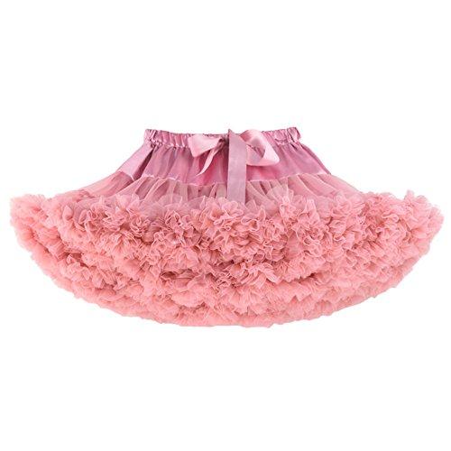 Tutu Ballerina Princess (Luckyauction Toddler Girl's Dance Tutu Skirts Layered Ballerina Princess Tutu Skirt,Bean Pink M)