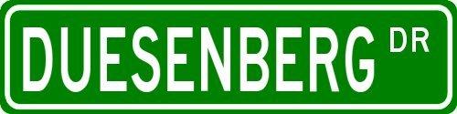 duesenberg-family-lastname-street-sign-heavy-duty-6x24-quality-aluminum-sign