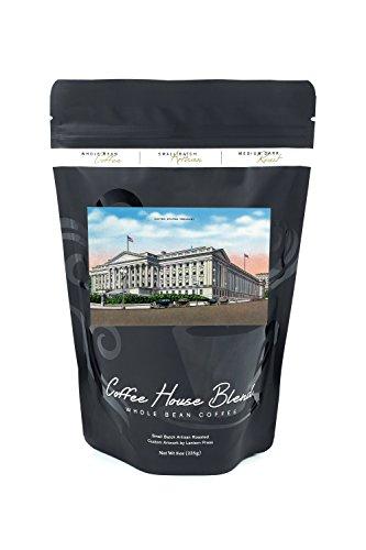 Washington DC - Exterior View of the US Treasury Building (8oz Whole Bean Small Batch Artisan Coffee - Bold & Strong Medium Dark Roast w/Artwork) (Building Treasury)