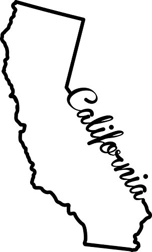 - ND245 California State Decal Sticker | 7-Inches By 4.2-Inches | Premium Quality Black Vinyl